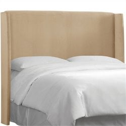 MER-1396 Upholstered Wingback Panel Headboard in Beige 1