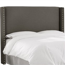 MER-1396 Upholstered Wingback Panel Headboard in Gray