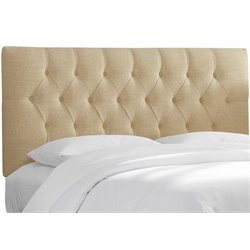 MER-1396 Upholstered Tufted Panel Headboard in Beige 1