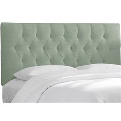 MER-1396 Upholstered Tufted Panel Headboard in Blue