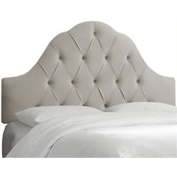 MER-1396 Upholstered Tufted Headboard in Gray 1