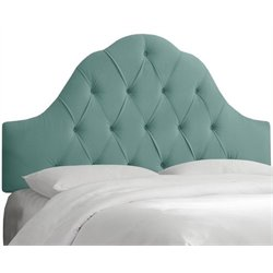 MER-1396 Upholstered Tufted Panel Headboard in Green