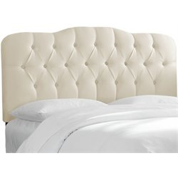 MER-1396 Upholstered Tufted Panel Headboard in Parchment