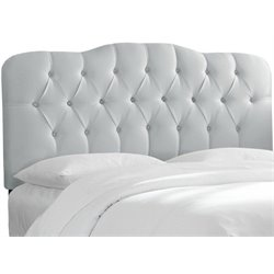 MER-1396 Upholstered Tufted Panel Headboard in Silver