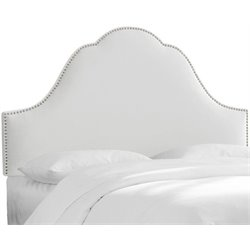 MER-1396 Upholstered Panel Headboard in White 4