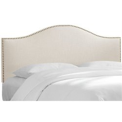 MER-1396 Upholstered Panel Headboard in Ivory 1