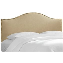 MER-1396 Upholstered Panel Headboard in Sandstone 1
