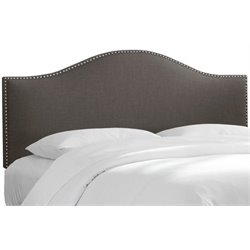 MER-1396 Upholstered Panel Headboard in Cindersmoke