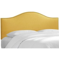 MER-1396 Upholstered Panel Headboard in Yellow 1