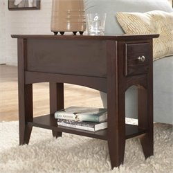 Beaumont Lane Chairside End Table in Ebony Brown