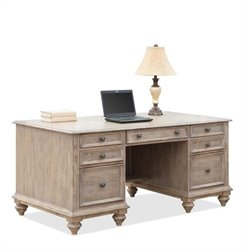 Beaumont Lane Executive Desk in Weathered Driftwood