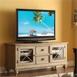 Beaumont Lane TV Console in Weathered Driftwood