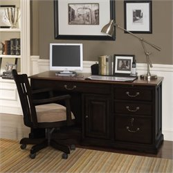 Beaumont Lane Desk in Antique Black/Burnished Cherry