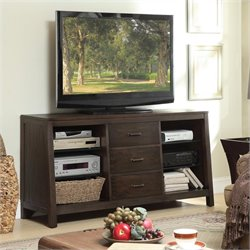Beaumont Lane Canted TV Console in Warm Cocoa