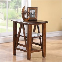 Beaumont Lane Chairside Table in Toffee