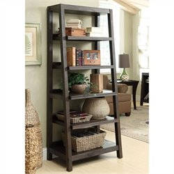 Beaumont Lane Canted Bookcase in Warm Cocoa