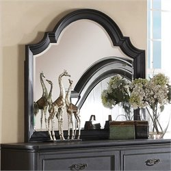 Beaumont Lane Arch Mirror in Raven Black