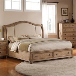 Beaumont Lane California King Upholstered Storage Sleigh Bed