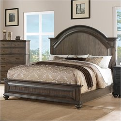 Beaumont Lane Queen Panel Bed in Old World Oak
