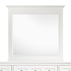 Beaumont Lane Landscape Mirror in Painted White