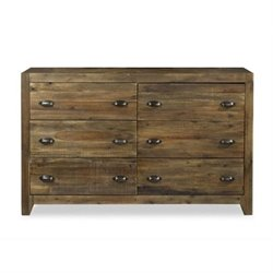 Beaumont Lane Wood 6 Drawer Dresser in Natural