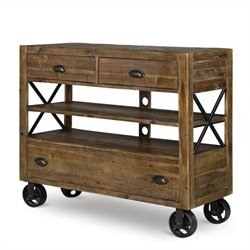 Beaumont Lane Wood Media Chest with Casters in Natural