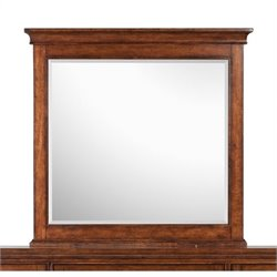 Beaumont Lane Wood Framed Landscape Mirror in Cherry