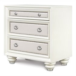 Beaumont Lane 3 Drawer Nightstand in High Glossy White