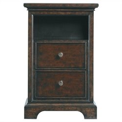 Beaumont Lane 2 Drawer Nightstand in Polished Sable