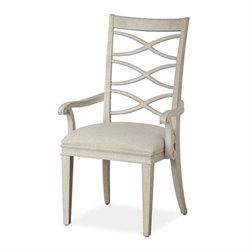 Beaumont Lane X-Back Arm Chair in Malibu