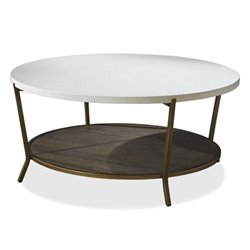 Beaumont Lane Round Coffee Table in Brown Eyed Girl