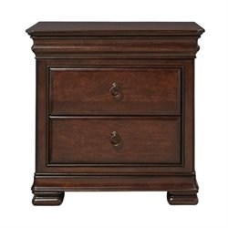 Beaumont Lane 3 Drawer Nightstand in Rustic Cherry