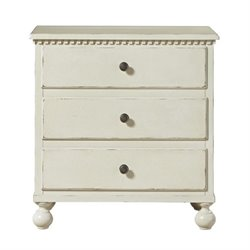Beaumont Lane 3 Drawer Nightstand in Summer White