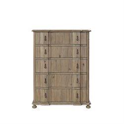 Beaumont Lane 5 Drawer Chest in Khaki