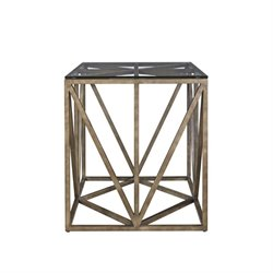 Beaumont Lane Square End Table in Khaki