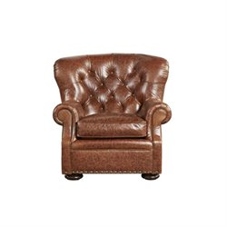 Beaumont Lane Leather Arm Chair in Brown