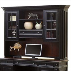 Beaumont Lane Credenza Hutch in Rubbed Black