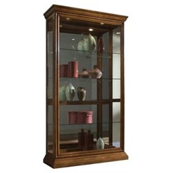 Beaumont Lane Curio Cabinet in Golden Oak