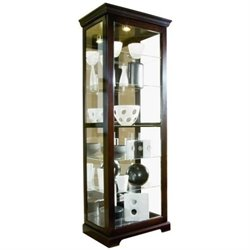MER-1395 Beaumont Lane Curio Cabinet in Cherry