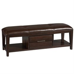 Beaumont Lane Upholstered Bedroom Bench in Sable