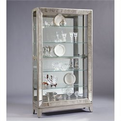 Beaumont Lane Side Entry Curio Cabinet in Platinum