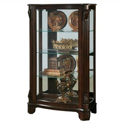 Beaumont Lane Mantel Curio Cabinet in Brown
