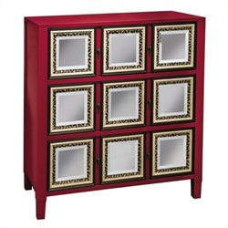 Beaumont Lane 3 Drawer Accent Chest in Red