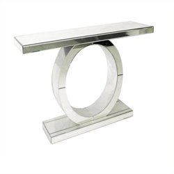 Beaumont Lane Mirrored Console Table in Mirrored