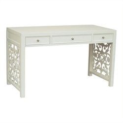Beaumont Lane 3 Drawer Writing Desk in White