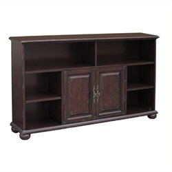 Beaumont Lane Bookcase Sideboard in Distressed Brown