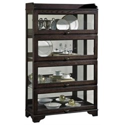 Beaumont Lane Sliding Door Curio Cabinet in Wood