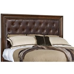 MER-1395 Beaumont Lane Tufted Panal Headboard in Brown