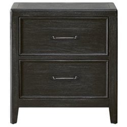 Beaumont Lane 2 Drawer Nightstand in Black