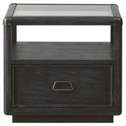 Beaumont Lane Glass Top End Table in Black